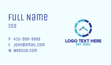 Blue Cycle Watch Business Card