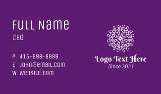 White Symmetrical Mandala Business Card
