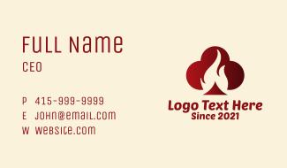 Club Poker Flame  Business Card