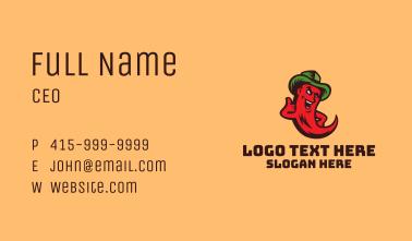 Chili Cowboy Mascot Business Card