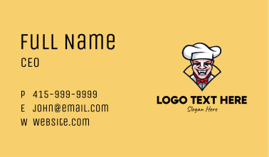 Laughing Chef Mascot  Business Card
