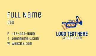 Retro Trumpet Music Business Card
