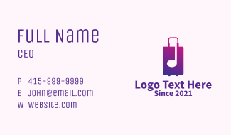Travel Luggage Note  Business Card