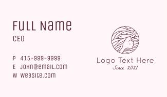 Maroon Pretty Woman  Business Card