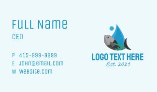 Aquatic Marine Fish Business Card