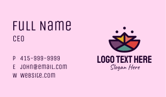 Colorful Polygon Mosaic  Business Card