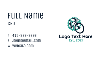 Bicycle Gear Shop Business Card
