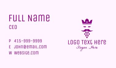 King Grape Beard Business Card