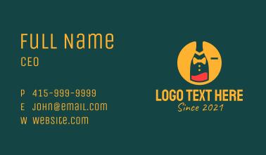 Tuxedo Wine Bottle Business Card