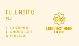 Golden Muslim Mosque  Business Card