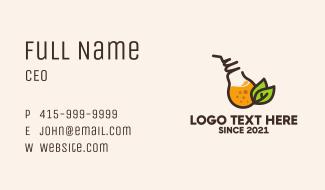 Organic Fruit Drink  Business Card