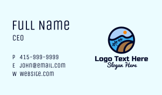 Tropical Surf Wave Business Card