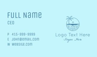 Beach Water Horizon Business Card