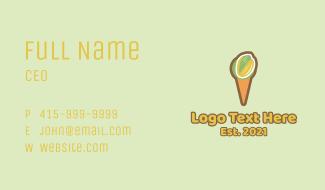 Pistachio Ice Cream Cone Business Card