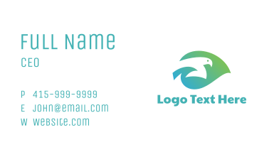 Gradient Leaf Dove  Business Card