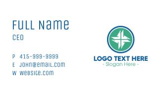 Modern Medical Cross Business Card