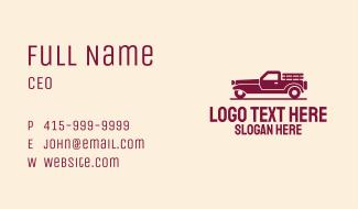 Farm Truck Vehicle Business Card