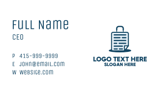 Document Suitcase  Business Card