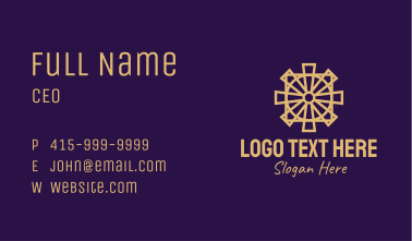 Religious Cross Relic Business Card