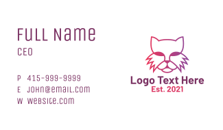 Gradient Cat Head Business Card