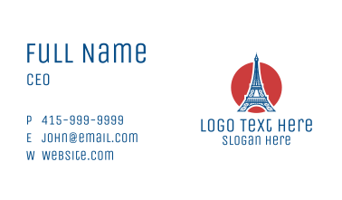 France Eiffel Tower  Business Card