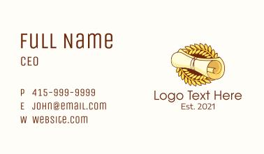 Diploma Laurel Leaf Business Card