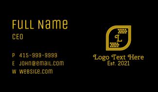 Golden Lemon Letter Business Card