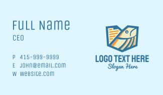 Geometric Fish Document Business Card