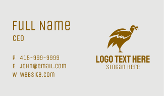 Brown Vulture Business Card