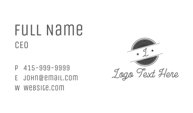 Hipster Retro Badge  Business Card