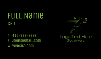 Athletic Running Man  Business Card