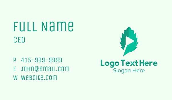 streaming platform - Green Leaf Media  Business card horizontal design