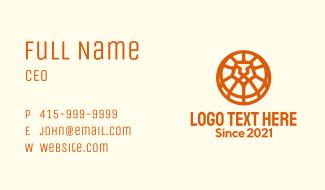 Orange Lion Badge Business Card