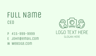 Vine Leaf Camera Business Card