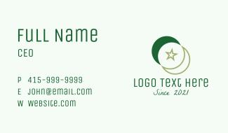 Islamic Moon Star  Business Card