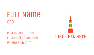 Colorful Empire State Business Card