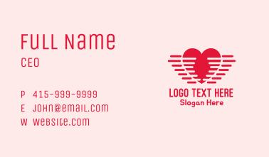 Lovely Heart Wings Business Card