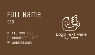 Camping Cafe Business Card