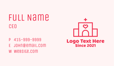 Red Heart Hospital Business Card