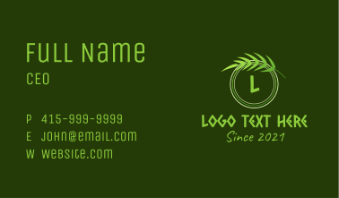 Outdoor Nature Letter  Business Card