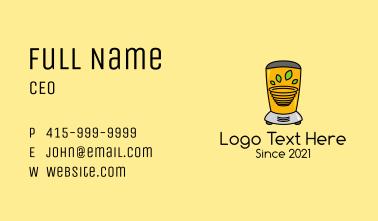 Juice Bar Blender Business Card