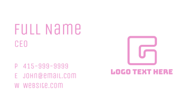 Pink Square G Business Card