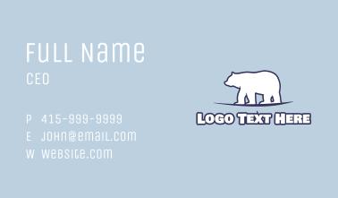 Antarctica Polar Bear Business Card