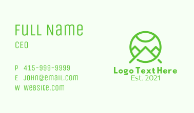 Green Mountain Letter A Business Card
