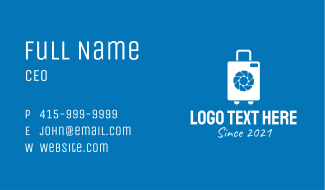 White Luggage Camera  Business Card
