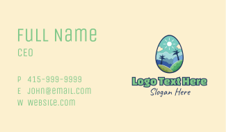 Nature Egg Landscape Business Card