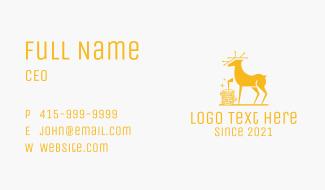 Golden Deer Coin  Business Card
