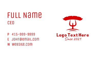 Red Grill Sausage Business Card
