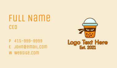 Ninja Bubble Tea  Business Card