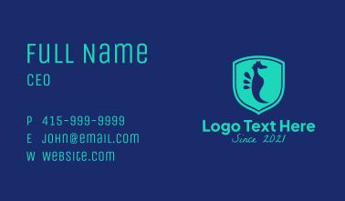 Seahorse Shield  Business Card